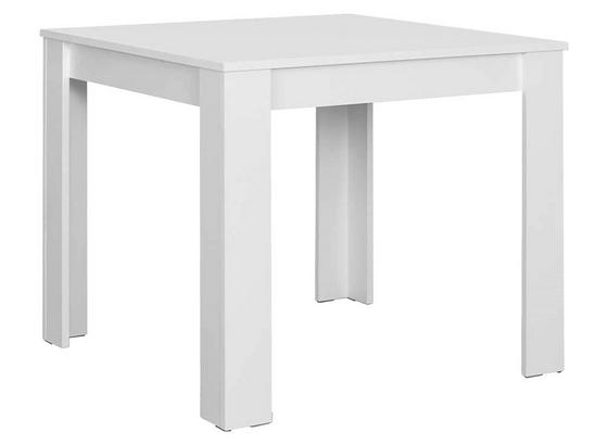 Esstisch Nick L: ca. 90 cm Weiß - Weiß, MODERN, Holzwerkstoff (90/90/75cm) - Livetastic