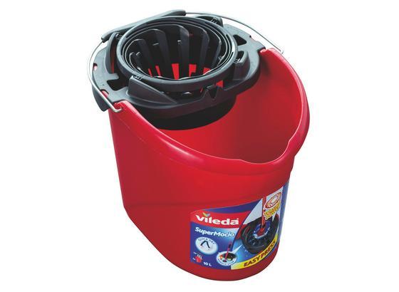 Kbelík Super Mocio - červená, Konvenční, umělá hmota