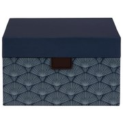 Aufbewahrungsbox Lola - Dunkelblau, Basics, Karton (20/20/12cm)
