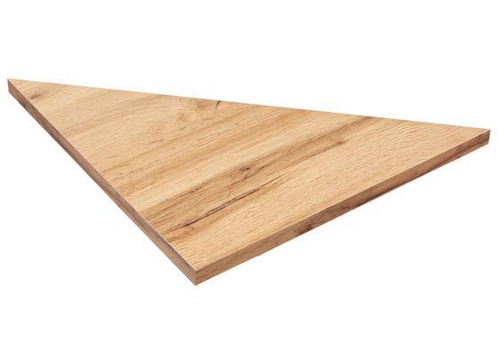 Nástenná Polica Skate 35/35 - farby dubu, Moderný, kompozitné drevo (35/1,8/35cm)