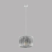 Hängeleuchte Kinross 1 - Weiß, MODERN, Holz/Metall (37/110cm)