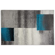 Webteppich Florence 160x230 cm - Beige/Schwarz, KONVENTIONELL, Textil (160/230cm) - Ombra