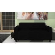 Sofa Basic B: 145 cm - Schwarz, MODERN, Holz/Textil (145/70/78cm)