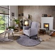 Ohrensessel Asti Grau Casablanca 82cm - Wengefarben/Grau, MODERN, Holz/Textil (82/100/84cm) - Ombra