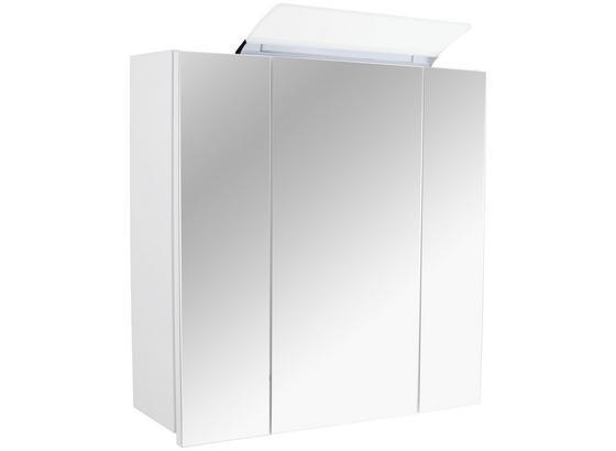 Skříňka Se Zrcadlem Tress Ii Cz/sk - bílá, Konvenční, kompozitní dřevo (80/70/17cm) - Luca Bessoni