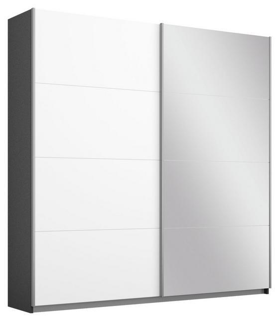 Schwebetürenschrank Belluno 181 cm Grau/Weiß/sp. - Dunkelgrau/Weiß, MODERN, Holzwerkstoff (181/210/62cm)