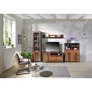 Highboard Clif B:107cm Old-wood Vintage/beton Dekor - Dunkelgrau, MODERN, Holzwerkstoff/Kunststoff (128cm)