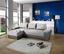Wohnlandschaft in L-Form Milano 270x160 cm - Chromfarben/Dunkelgrau, MODERN, Leder/Textil (270/90/160cm)