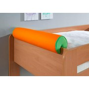 Nackenrolle Grün/orange - Orange/Grün, Design, Textil (80/16/16cm)