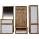 Vorzimmerkombination Kashmir New 1 - Eichefarben/Weiß, MODERN, Holzwerkstoff (228/192/41cm) - JAMES WOOD