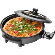 Pizza-/Partypfanne Pp 3402 - Schwarz, MODERN, Kunststoff/Metall (43/16/44cm) - Clatronic