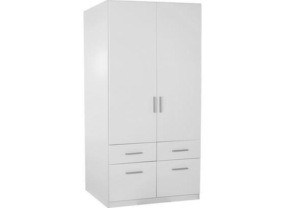 Skříň Šatní Celle - bílá, Moderní, dřevo (91/197/54cm)