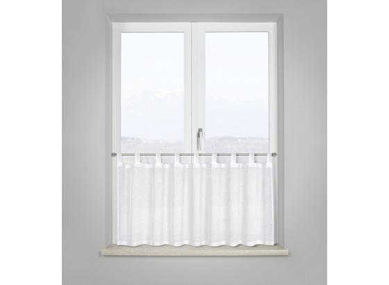 Krátka Záclona Fiona - biela, Romantický / Vidiecky, textil (50qm) - Mömax modern living