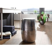 Beistelltisch Pedro D: ca. 30cm Silberfarben - Silberfarben, LIFESTYLE, Metall (30/49,5cm) - Carryhome