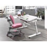 Jugendschreibtisch Comfortline B: 119 cm Weiß - Weiß/Grau, MODERN, Holzwerkstoff/Kunststoff (73/119/56-80cm) - MID.YOU