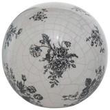 Dekokugel Anny - Schwarz/Weiß, Basics, Keramik (15/14cm)