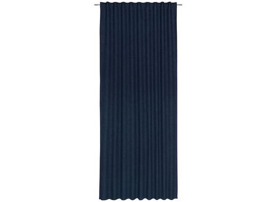 Závěs Leo -top- - tmavě modrá, textil (135/255cm) - Premium Living