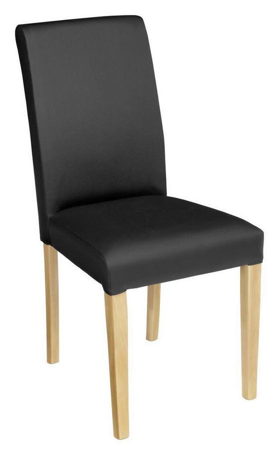 Stolička John - čierna/farby buku, Konvenčný, drevený materiál/textil (44,5/92,3/59cm)