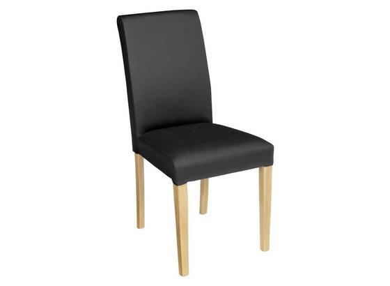 Židle John - černá/barvy buku, Konvenční, kompozitní dřevo/textilie (44,5/92,3/59cm)