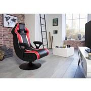 Gamingstuhl Specter II B: 65 cm - Rot/Schwarz, Design, Kunststoff/Textil (65/113/76cm) - Carryhome