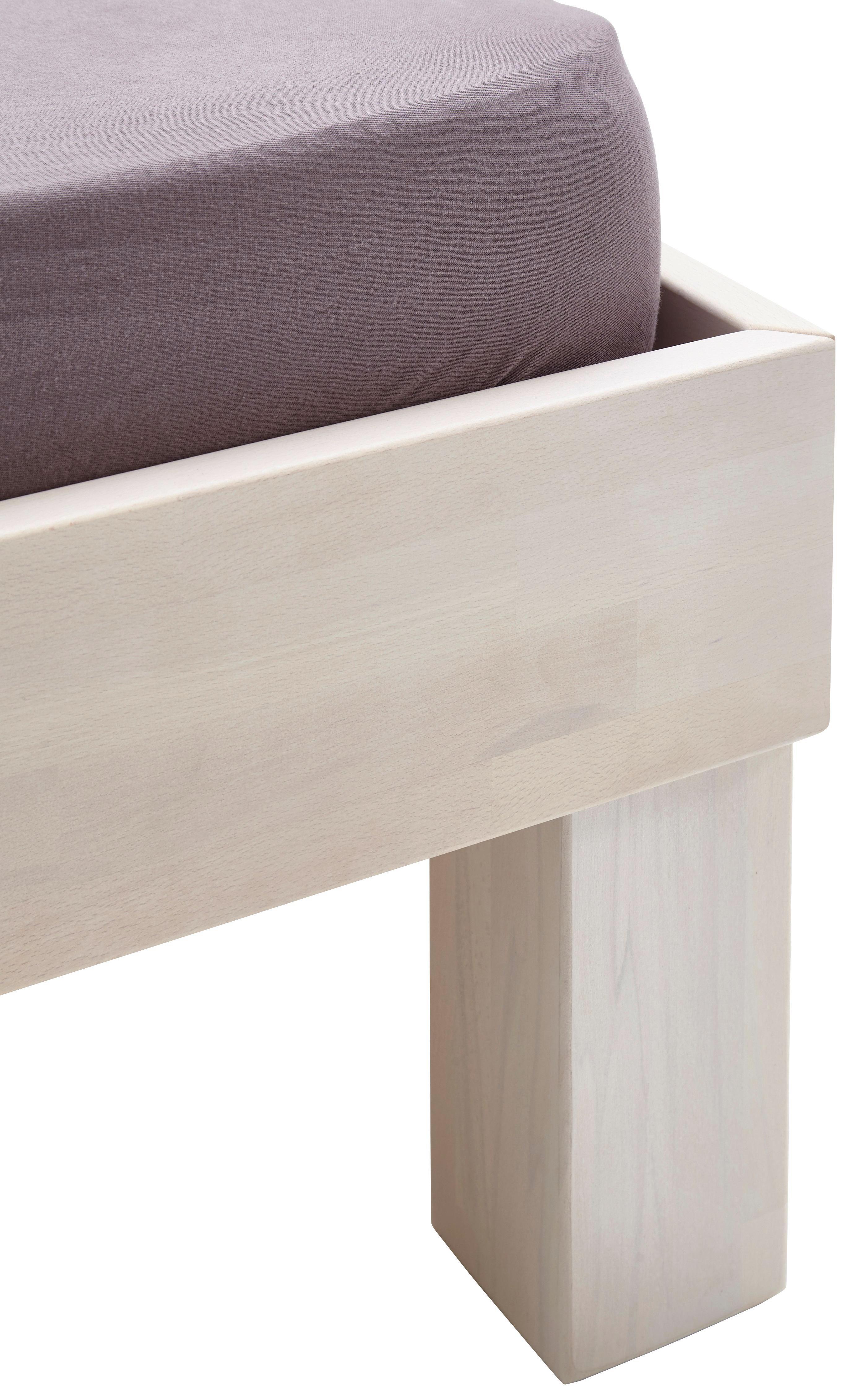 Futonová Postel Elisabeth 180x200cm - bílá, Konvenční, dřevo (180/200cm)