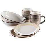 Frühstücksset 6-Tlg Duole Beige, Blau, Braun - Blau/Beige, Basics, Keramik - Mäser