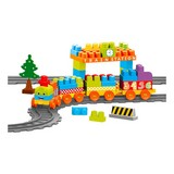 Bausteine Zug-Set 85-teilig - Multicolor, MODERN, Kunststoff