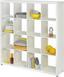 Regál Aron 16 - biela, Moderný, kompozitné drevo (153,8/156,6/35cm)
