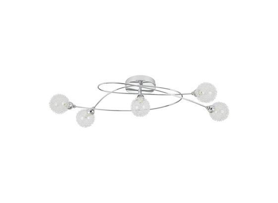 Stropná Lampa Mia, Max. 33 Watt - chrómová, Moderný, kov/sklo (76/25cm) - Mömax modern living