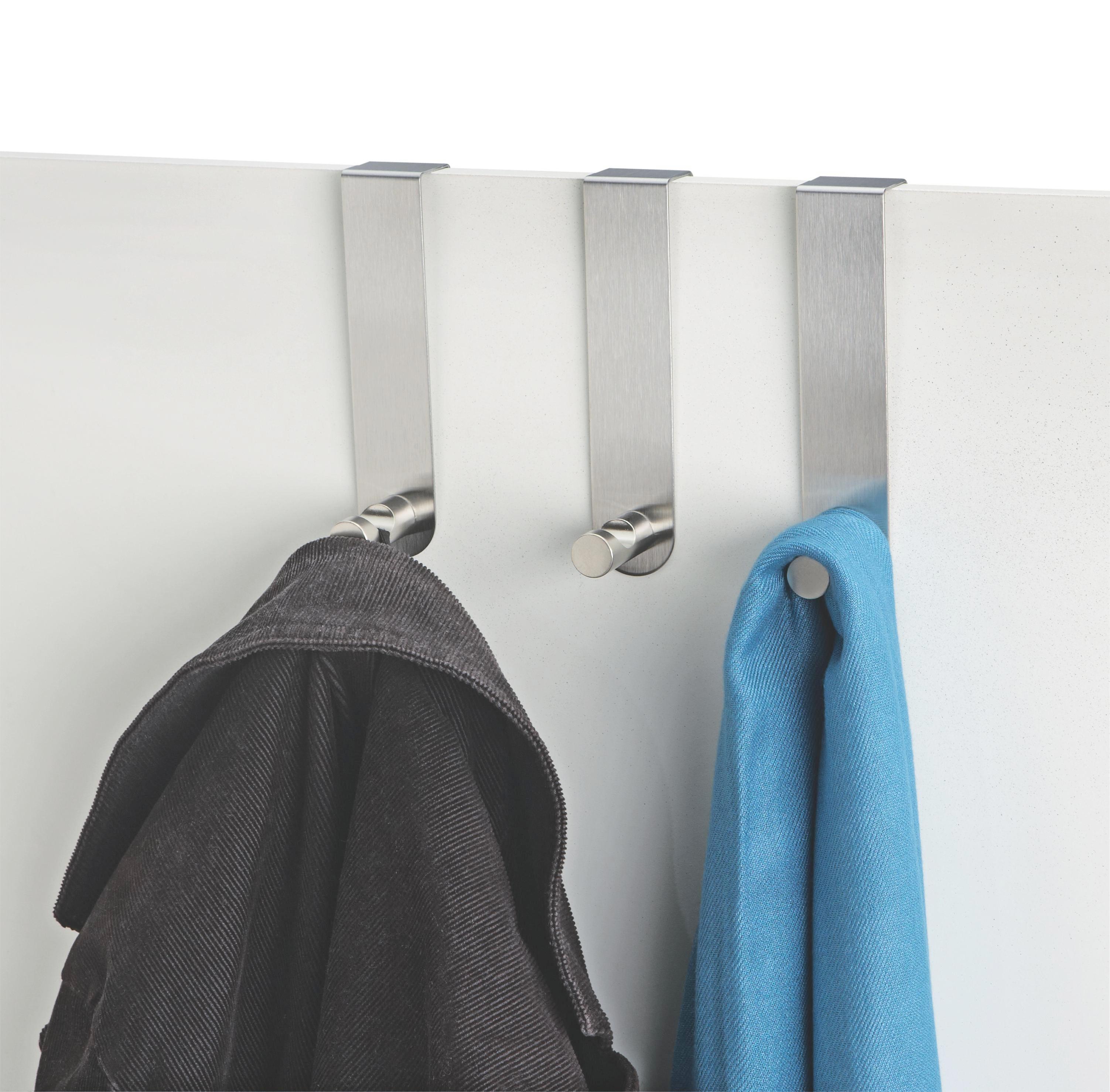 Kukica Za Garderobu Kukica Za Garderobu - boje oplemenjenog čelika, Basics, metal (13,5cm)