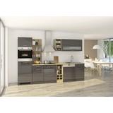 Küchenblock Mailand Gsp B: 310cm Anthrazit - Eichefarben/Anthrazit, Basics, Holzwerkstoff (310/200/60cm) - MID.YOU