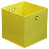 Faltbox Cubi - Gelb, MODERN, Karton/Textil (32/32/32cm)