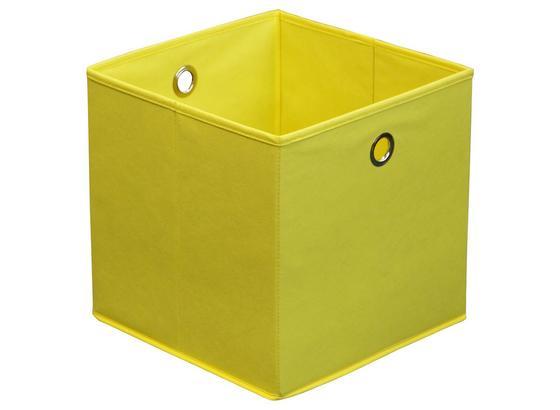 8f60954b9 Skládací Krabice Cubi - žlutá, Moderní, kov/karton (32/32/