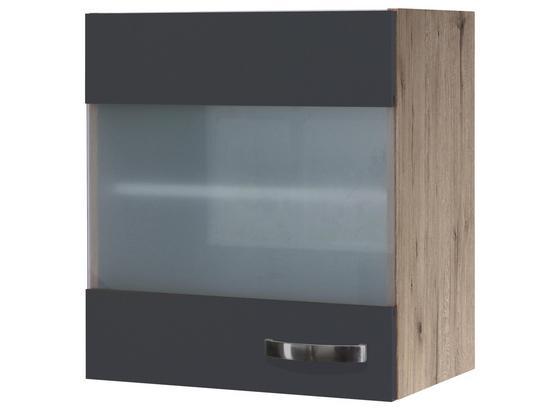 Hängeschrank Shadow   Hgh50 - Eichefarben/Grau, MODERN, Glas/Holzwerkstoff (50/54/32cm)