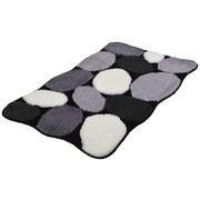Badteppich Stone - Beige/Schwarz, MODERN, Textil (60/2/100cm) - Kleine Wolke