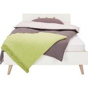 Postel Billund - bílá/barvy dubu, Moderní, dřevo/dřevěný materiál (140/200cm) - MODERN LIVING