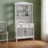 Kredenc Riccardo - bílá/šedá, Moderní, kov/dřevo (90/184/43cm) - Modern Living