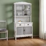 Kredenc Riccardo - sivá/biela, Moderný, kov/drevo (90/184/43cm) - Modern Living