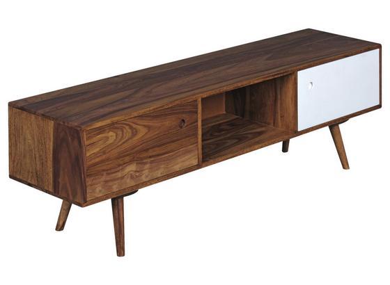 Lowboard Repa B: ca. 140 cm - Sheeshamfarben/Weiß, Design, Holz (140/45/35cm) - Livetastic