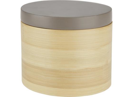 Dóza Naturelle - prírodné farby/sivá, drevo (14/12cm) - Mömax modern living