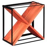 Weinregal Akola B: 37 cm Akazieholz - Akaziefarben, LIFESTYLE, Holz/Metall (37/37/20cm) - Livetastic