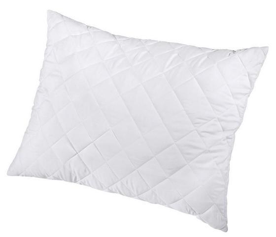 Bambusz Nagypárna Christian - Fehér, konvencionális, Textil (70/90cm)