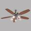 Deckenventilator Dian - Buchefarben/Graphitfarben, MODERN, Holzwerkstoff/Metall (130/49,5cm)