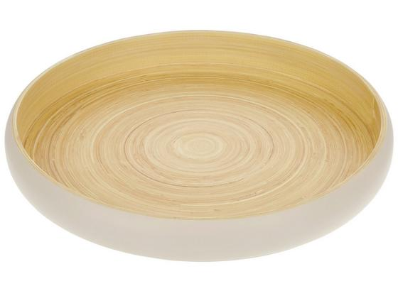 Podnos Dekorační Naturelle - bílá/přírodní barvy, Lifestyle, dřevo (39,5/5,5cm) - Mömax modern living