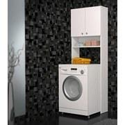 Überbauregal Laundry - Weiß, KONVENTIONELL, Holzwerkstoff (65/185,3/24,3cm)