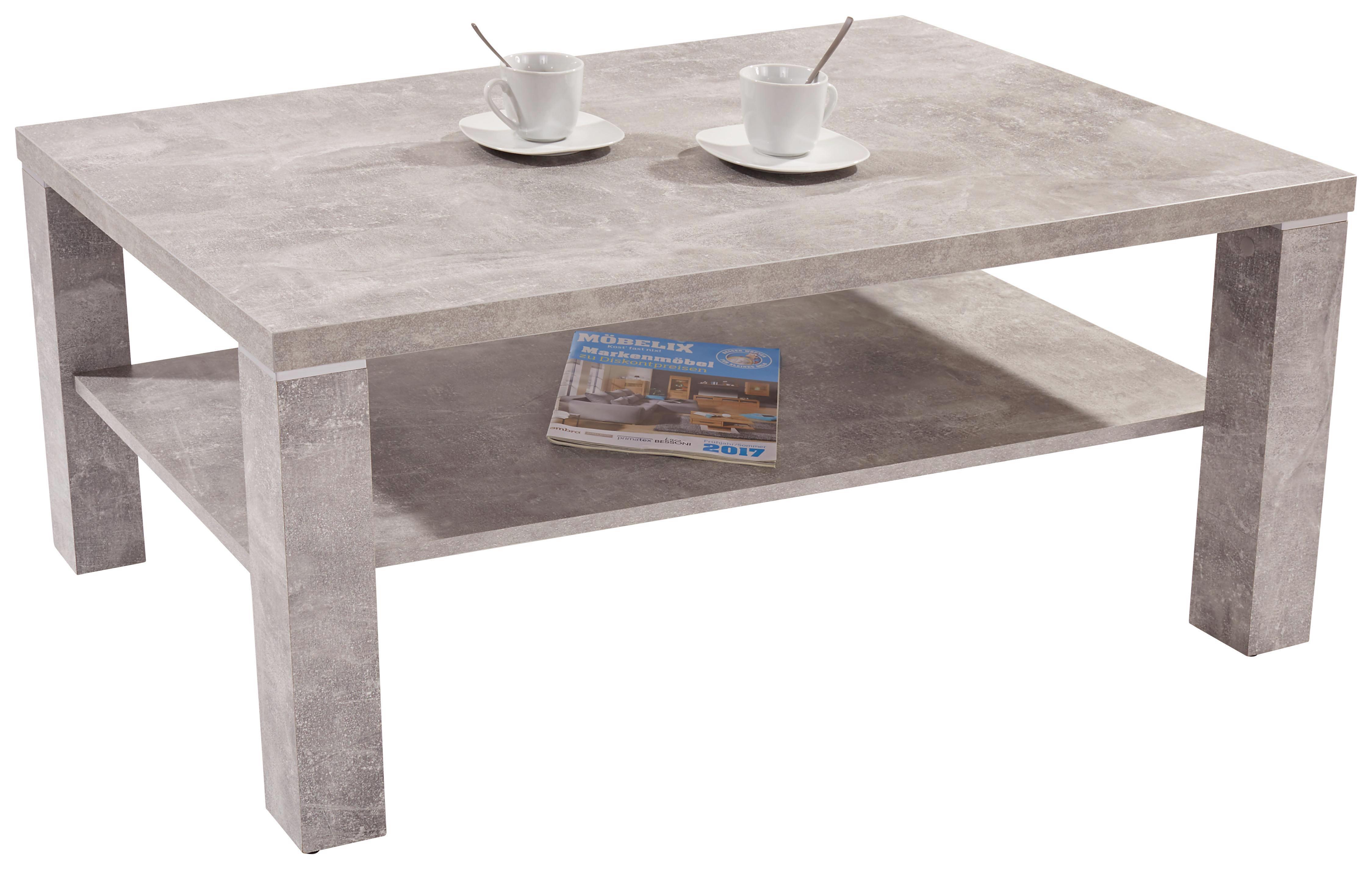 Dohányzóasztal Coffee - szürke, modern, faanyagok (110/45/67cm)