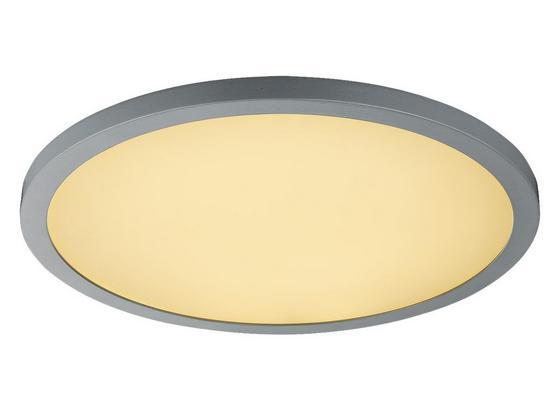 Deckenleuchte Sabi D: 40 cm - Silberfarben/Opal, Basics, Kunststoff/Metall (40/5,5cm)