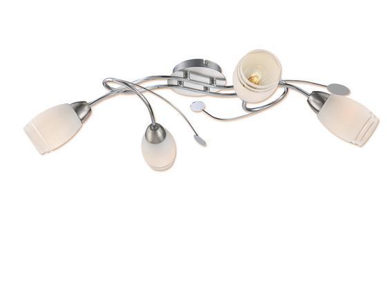 Deckenleuchte Anisa - Nickelfarben, KONVENTIONELL, Glas/Metall (68/39/17cm) - Ombra