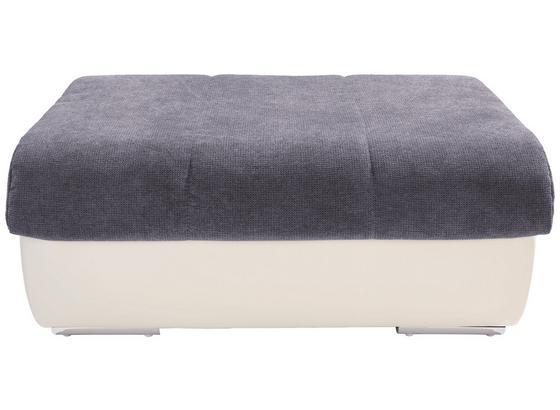 Taburet Multi - sivá/krémová, Moderný, textil (100/43/80cm)