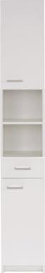 Magasszekrény Fiola - Fehér, konvencionális, Faalapú anyag (30/192/33,5cm)